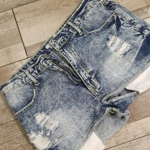 Mossimo High Rise Ditressed Shorts